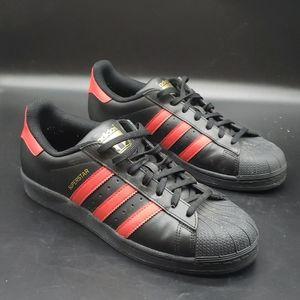 Adidas Originals Superstar, Black + Red